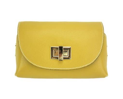 Marinela genuine leather bag from italy new style yellow for woman
