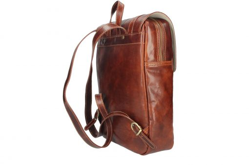 big brown Unisex genuine leather backpack Zulio beautiful last model new design