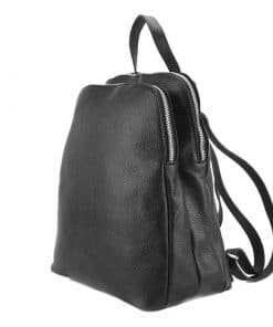 Rosaria Backpack in cow leather black colour last model new design for woman