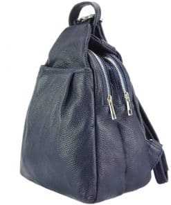Clementha leather backpack dark blue colour last model from italy new design for women