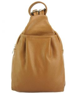 Clementha leather backpack tan for women