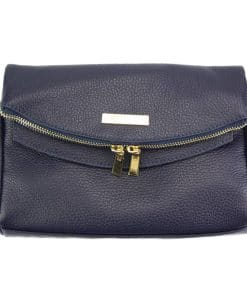 Camelia leather Cross body bag dark blue colour last model new design for woman