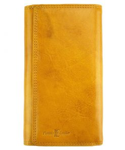 Aurelia leather wallet yellow for women
