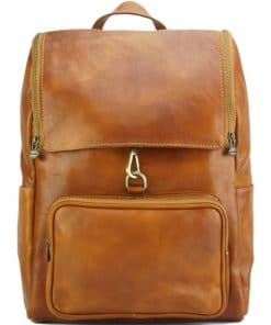 Connorado Backpack in genuine leather tan from italy new design for man