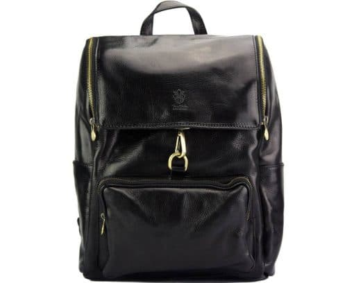 Connorado Backpack in genuine leather black from italy new design for man