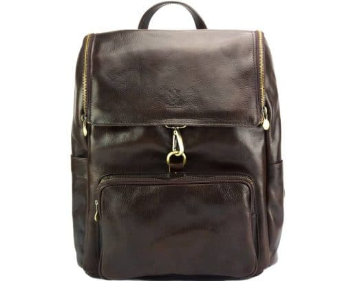 Connorado Backpack in genuine leather dark brown from italy new design for woman