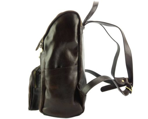 Connorado Backpack in genuine leather dark brown for woman