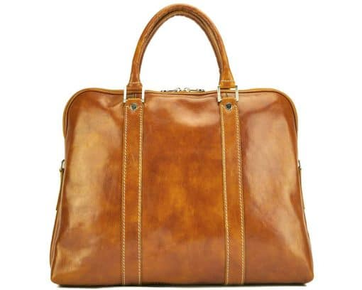 Emanuelle leather Tote bag tan ney style last model for woman
