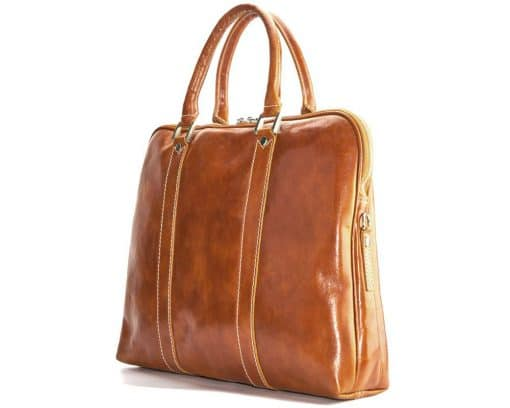 Emanuelle leather Tote bag tan ney style for women
