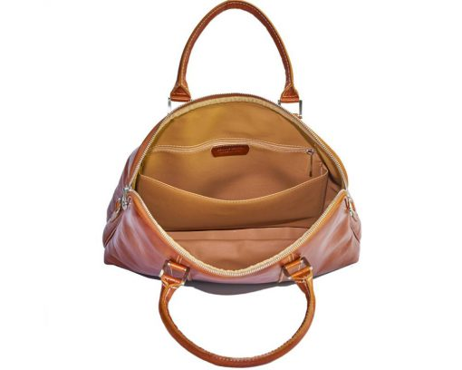 Emanuelle leather Tote bag tan from italy for woman