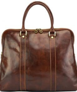 Emanuelle leather Tote bag brown for women