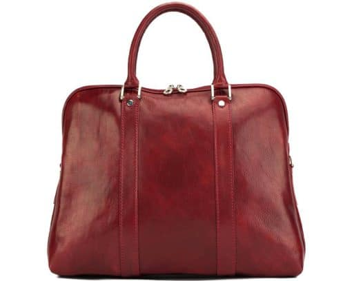 Emanuelle leather Tote bag dark red for woman